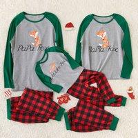 Little Yellow Fox Family Pajamas for Christmas