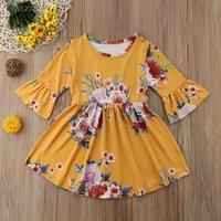 Half-sleeve Floral Dress