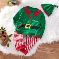 Baby's Adorable Christmas Set in Green