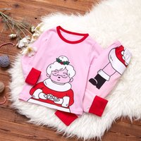 (Only 1 Left for 6-9M)2-piece Santa Granny Set in Pink