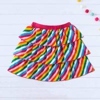 Mosaic Girls Rainbow Stripe Twirl Skirt