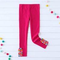 Mosaic Toddler/Girls 2x2 Rib Pink Rainbow Leggings