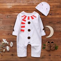 Snowman Jumpsuit with Hat