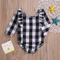 Ruffled Checkered Romper