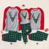 Elk and Plaid Family Pajamas Sets