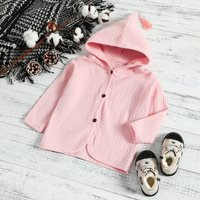 Hooded Coat with Tassel Detail