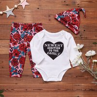 3-piece Newest to The Family Floral Set