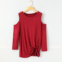 Fashion Cutout Shoulder Long Sleeves Twist Top