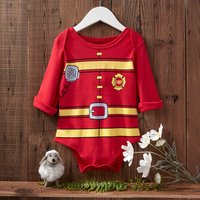 Fireman Romper in Red