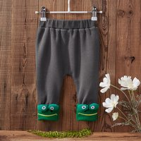 Plush Lined Rabbit Frog Design Pants