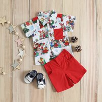2-piece Friends Printed Shirt and Shorts Set