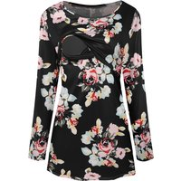 Floral Print Maternity Long-sleeve Top