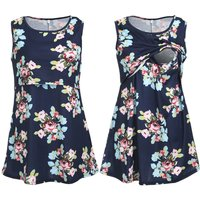 Women's Floral Maternity Nursing Tank Top