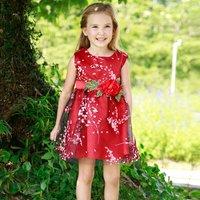 Three-layer Big Flower Print Toddler Girl Dress