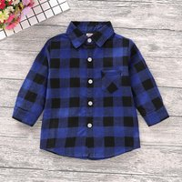 Black Blue Checkered Shirt