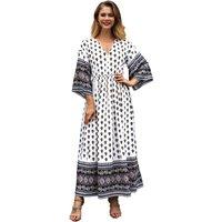 Stylish V-neck Boho Tribal Dress