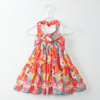 Beautiful Floral Sleeveless Halter Dress