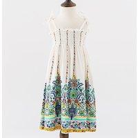 Casual Ethnic Pattern Slip Dress