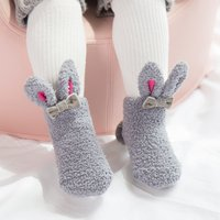 Fleece Rabbit Ears Socks with Bow