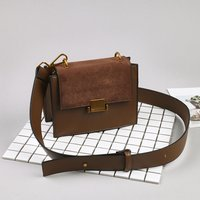 Retro Buckle Design Crossbody Bag