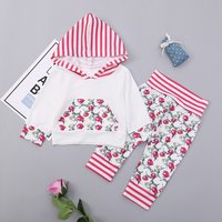 Baby/Toddlers Girl Striped Flower Print Set