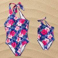 Mommy and Me Floral Swimsuits