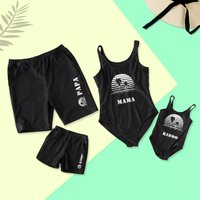 Sunset Tree Family Swimsuits