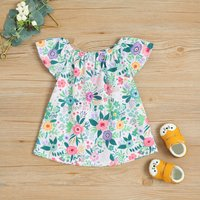 Baby and Toddler Girls' Fresh Floral Pattern Dress