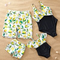 Lemon Matching Swimsuits for Family