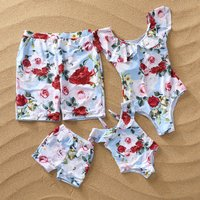 Flower Family Matching Swimsuit