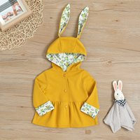 Rabbit Ear Design Hooded Coat for Baby and Toddler Girl