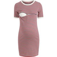 Classic Striped Nursing Dress