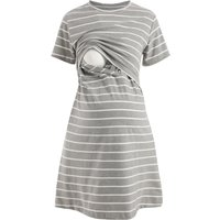 Striped Soft Maternity Nursing Dress