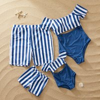 Striped Matching Swimsuit for Family