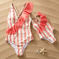 Striped Matching Swimsuit for Mommy and Me