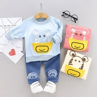 Pocket Animal Top and Jeans Set