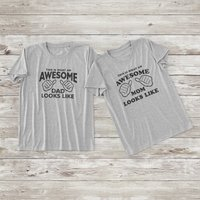 Daddy and Mommy's Letter Printed Short-sleeve T-shirt