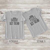 Classic Letter Printed Short-sleeve T-shirt for Girls