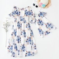 Off Shoulder Low High Dress for Mommy and Me