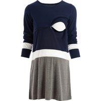 Maternity Color Block Long-sleeve Dress