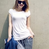 Women's Casual Back Keyhole Tee