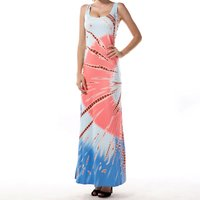 Tie-dyed Strap Maxi Dress