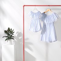 Off-Shoulder Playsuit for Mommy and Me