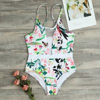 Floral Tulle Onepiece Swimsuit