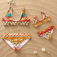 Stylish Printed Matching Swimsuit for Summer