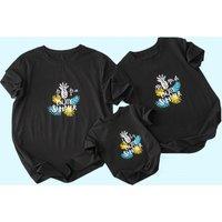 Pineapple Print Matching T-shirts