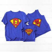 Stylish Superman Printed Family Matching T-shirt