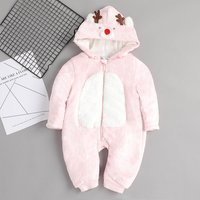 Adorable Deer Hooded Jumpsuit for Babies