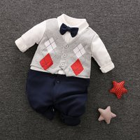 Baby Boy's Faux-two Long Sleeve Jumpsuit