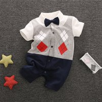 Baby & Infant's Faux-Two Plaid Gentleman Jumpsuit